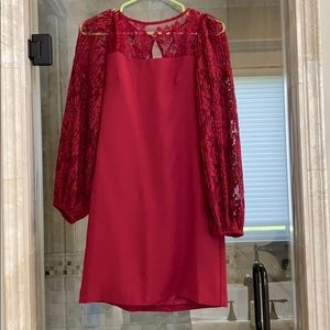 WHBM lace sleeve dress 00